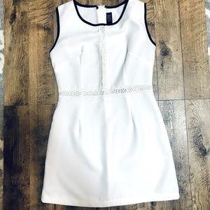 White sheath mini dress made in USA